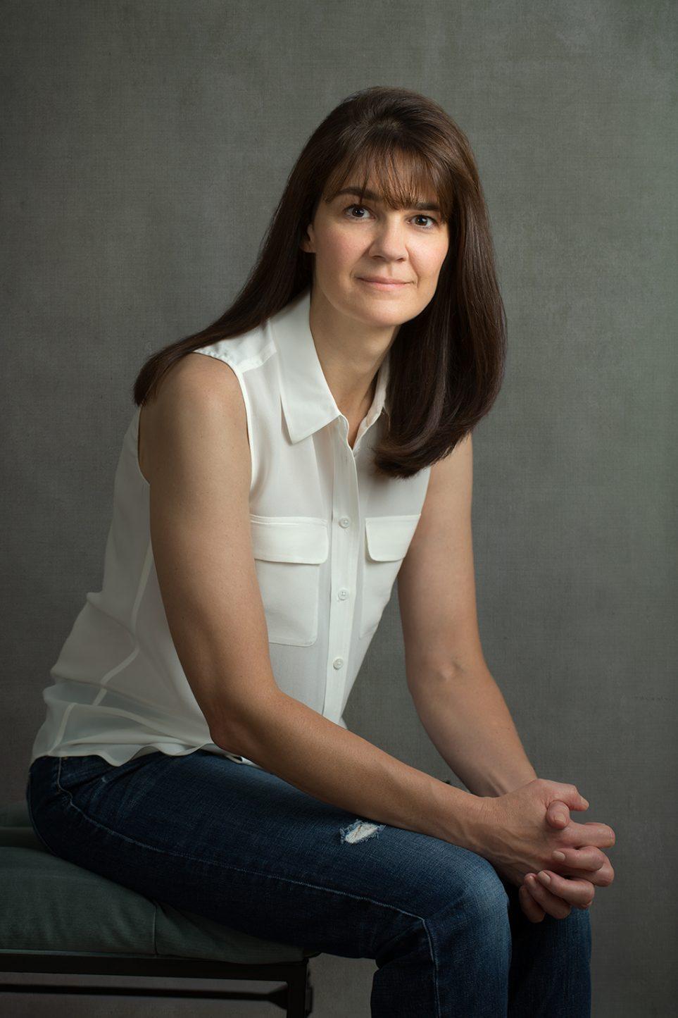 Female Portrait Gray Background Digitally Enhanced Fine Art