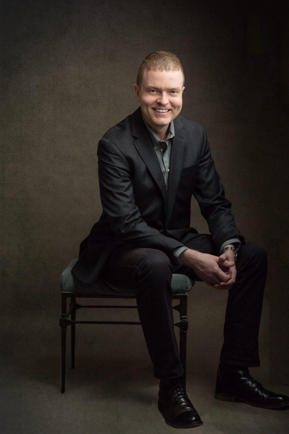 Male Portrait Digital Background Sitting